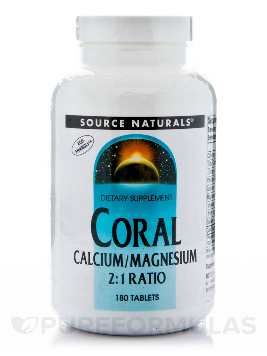 Coral Calcium with Magnesium - 180 Tablets