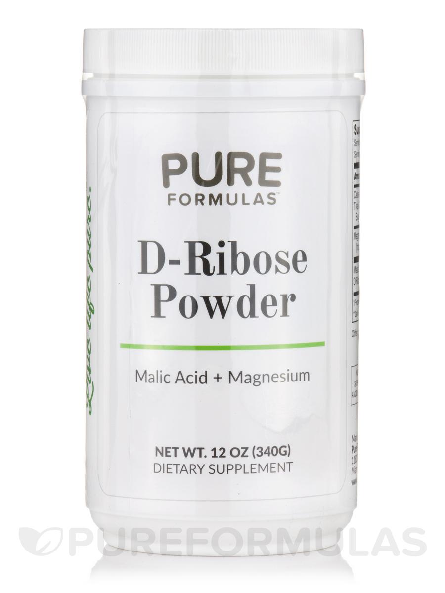 D-Ribose Powder (Malic Acid + Magnesium) - 12 oz (340 Grams)