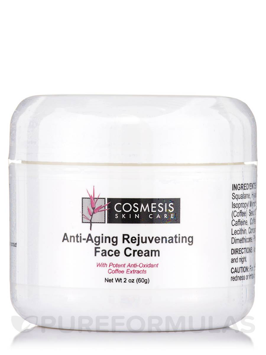 Cosmesis Anti-Aging Rejuvenating Face Cream with Coffee Extracts - 2 oz (60 Grams)