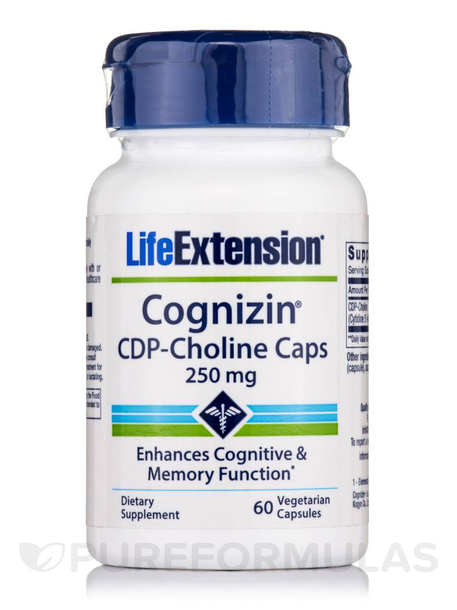 CDP-Choline Caps 250 mg - 60 Capsules