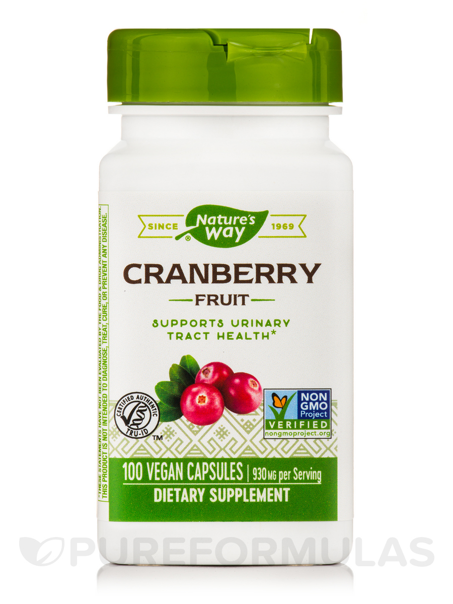 Cranberry Fruit 465 mg - 100 Capsules