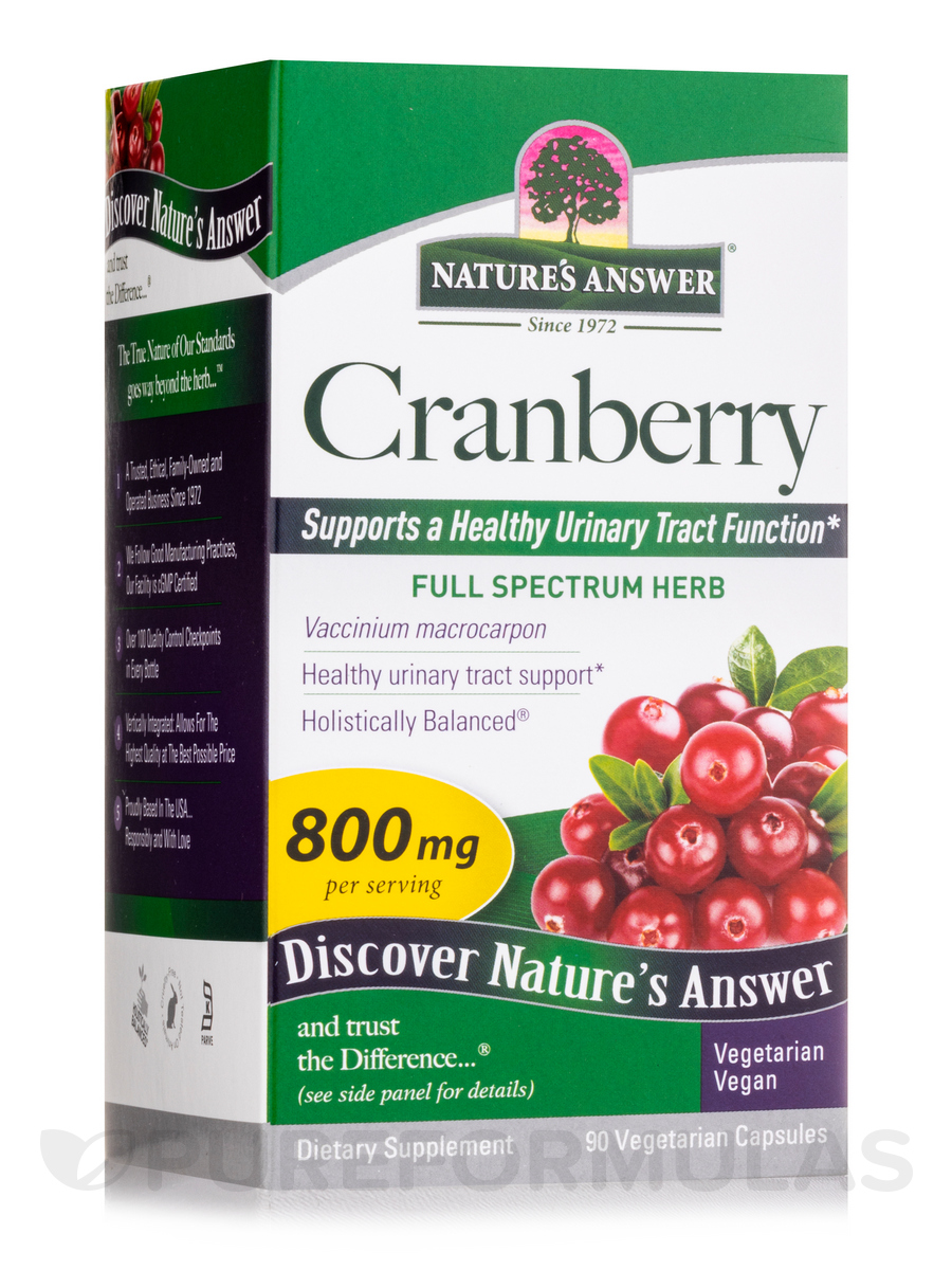 Cranberry Fruit 800 mg - 90 Vegetarian Capsules
