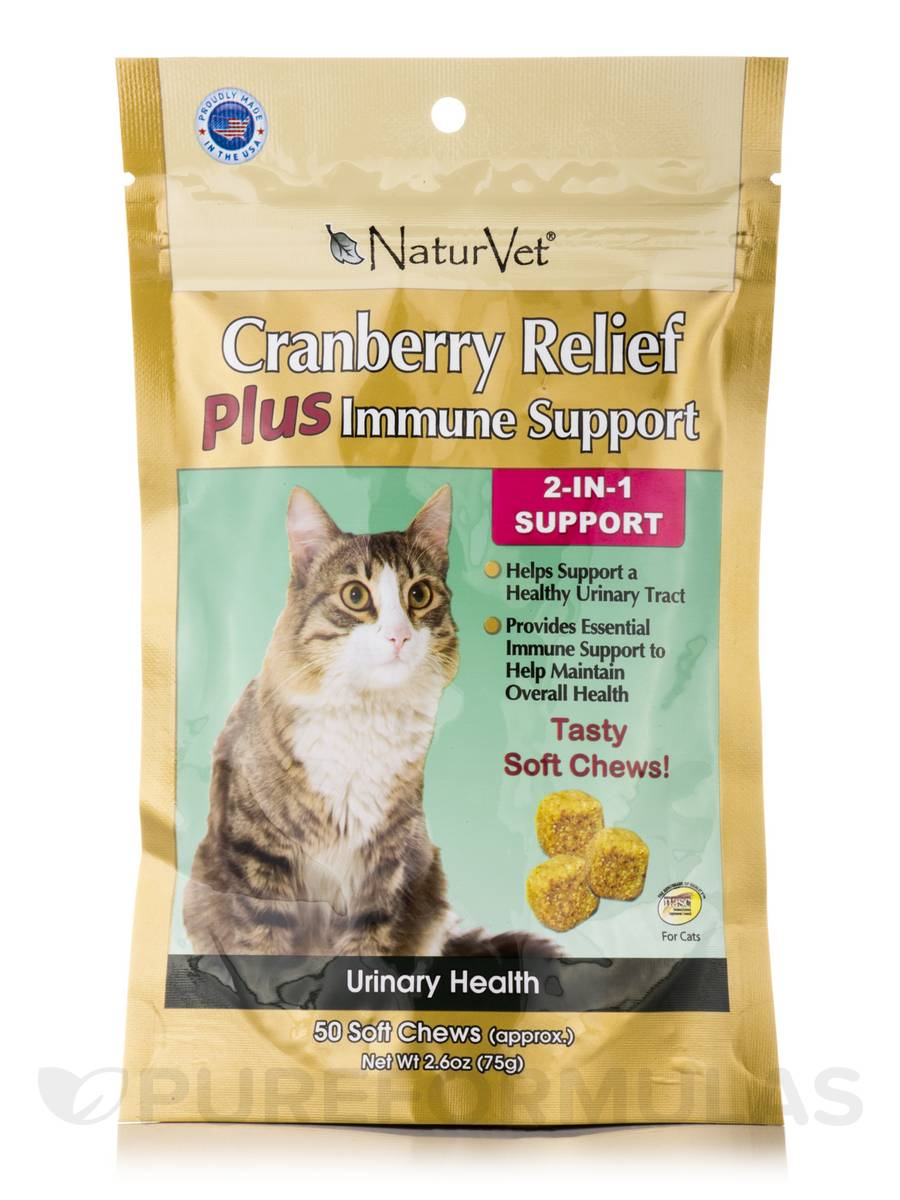 Cranberry Relief Plus Immune Support for Cats - 50 Soft Chews (2.6 oz / 75 Grams)