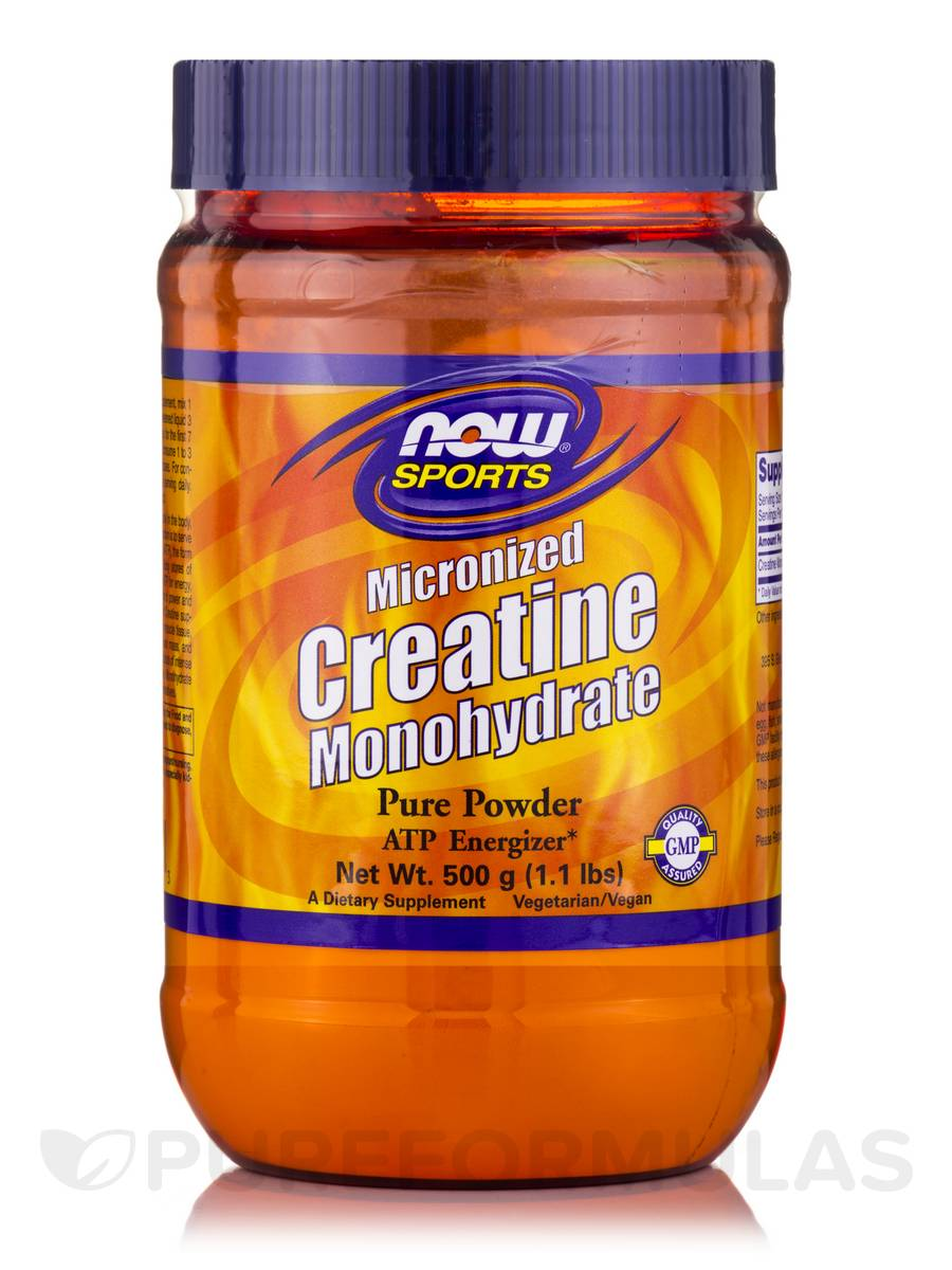 NOW® Sports - Creatine Monohydrate Powder (Micronized) - 1.1 lbs (500 Grams)