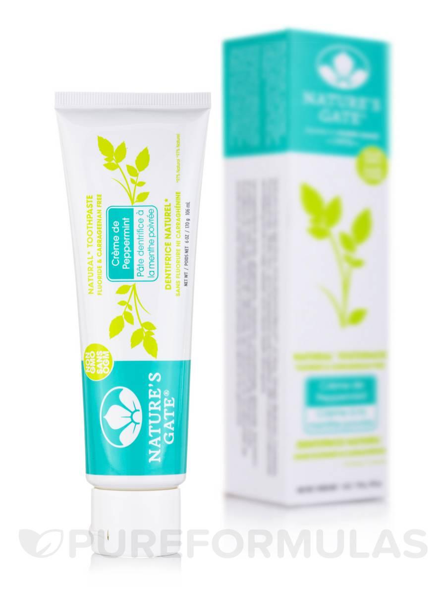 Crème de Peppermint Toothpaste (Fluoride Free) - 6 oz (170 Grams / 119 ml)