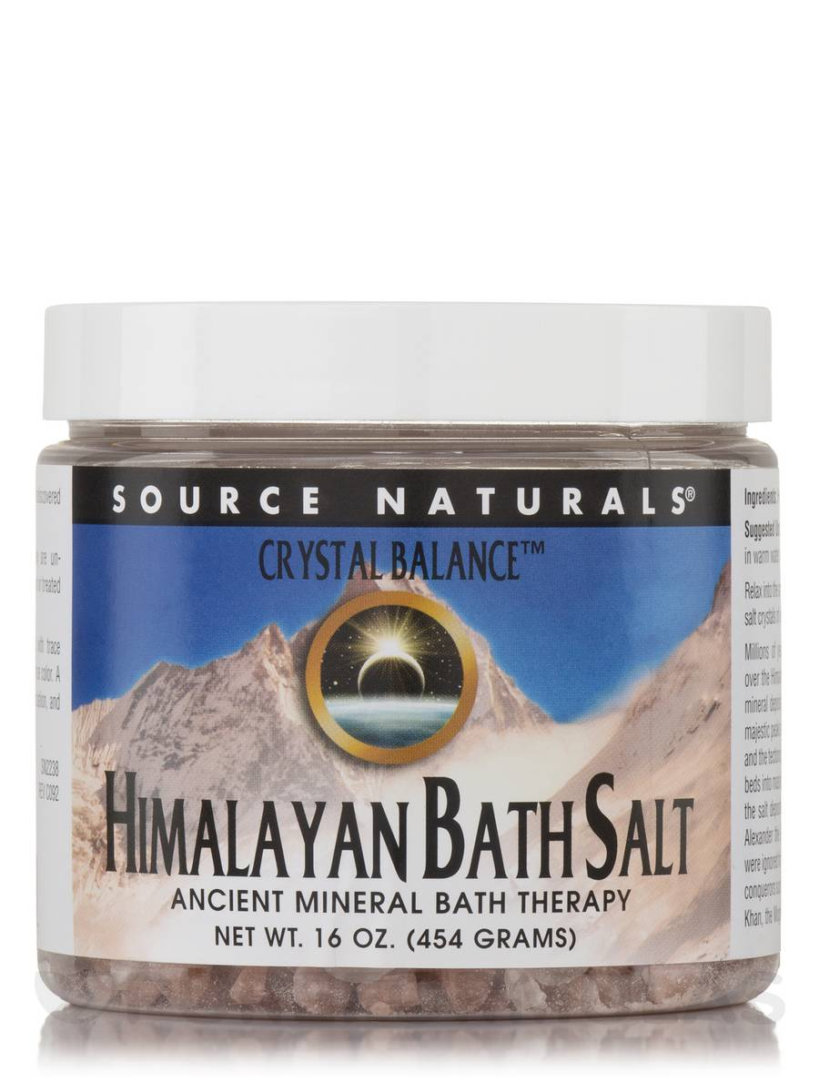 Crystal Balance Himalayan Bath Salt - 16 oz (454 Grams)