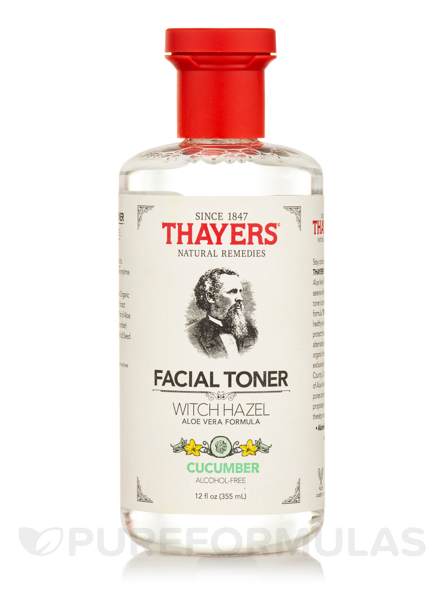Cucumber Witch Hazel Toner with Organic Aloe Vera (Alcohol free) - 12 fl. oz (355 ml)