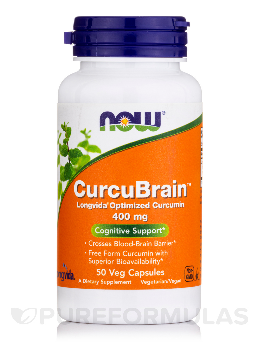 CurcuBrain™ Cognitive Support Optimized Curcumin 400 mg - 50 Veg Capsules