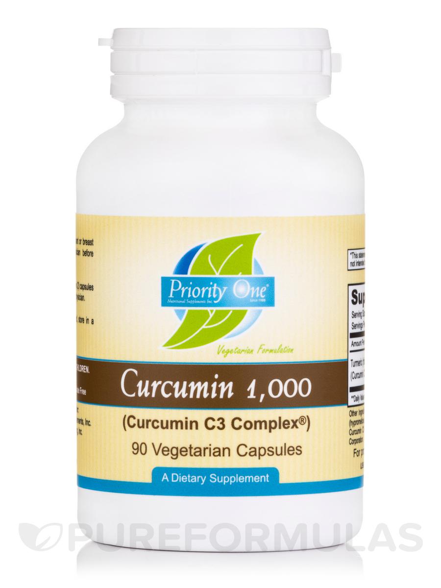 Curcumin 1000 mg (Curcumin C3 Complex®) - 90 Vegetarian Capsules