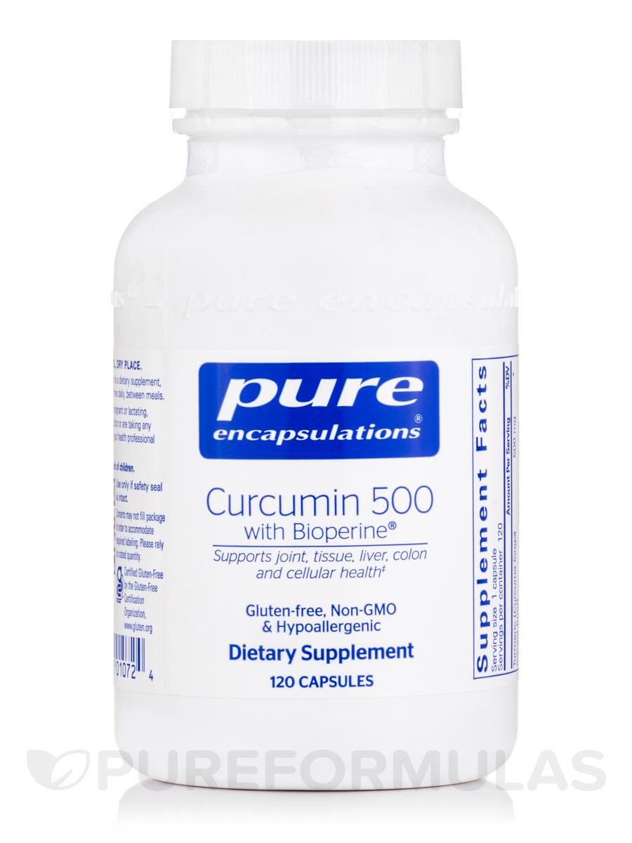 Curcumin 500 with Bioperine - 120 Vegetable Capsules