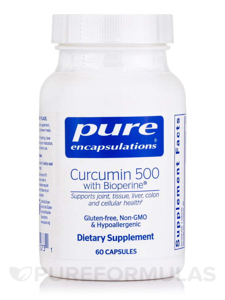 Curcumin 500 with Bioperine - 60 Capsules