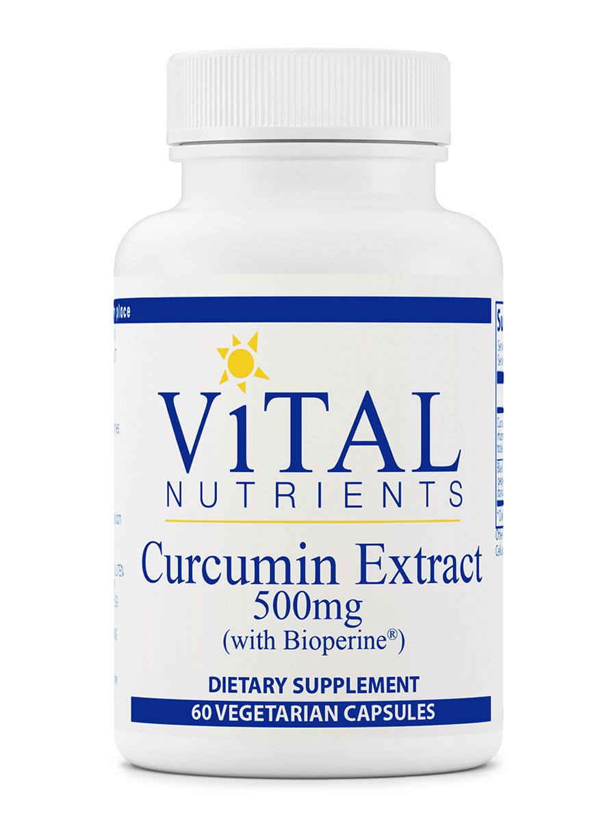 Curcumin Extract 500 mg (with Bioperine®) - 60 Vegetable Capsules