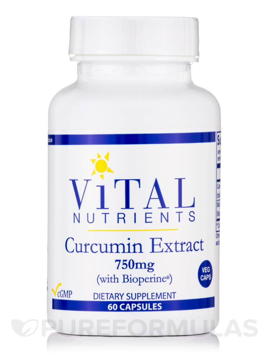 Curcumin Extract 750 mg - 60 Vegetable Capsules