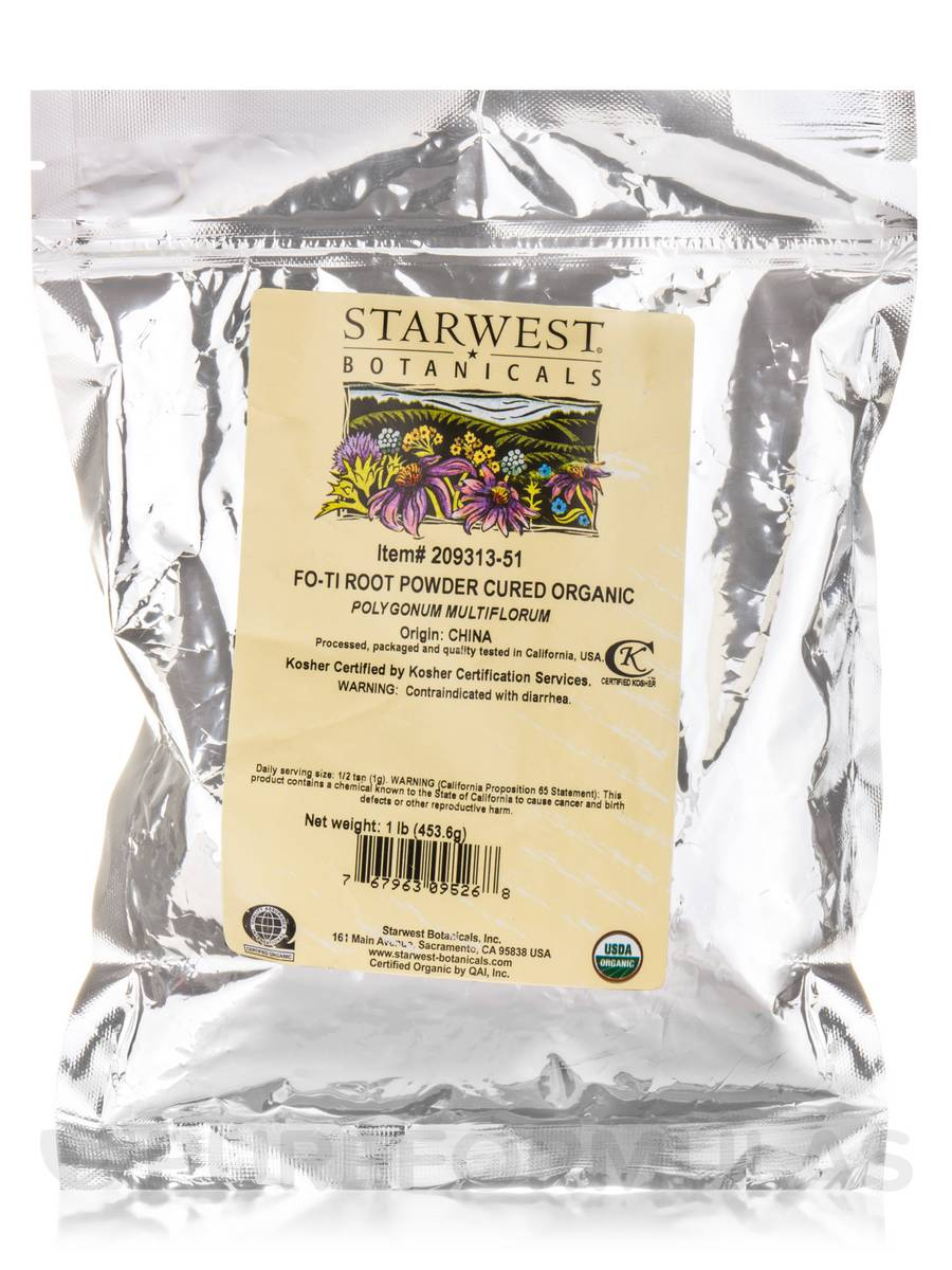 Cured Organic Fo-Ti Root Powder - 1 lb (453.6 Grams)