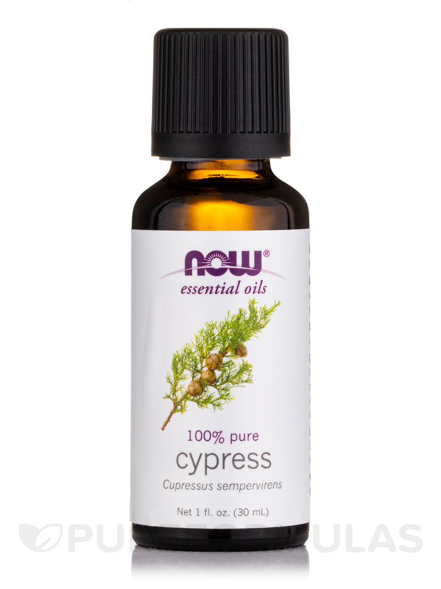 NOW® Essential Oils - Cypress Oil - 1 fl. oz (30 ml)