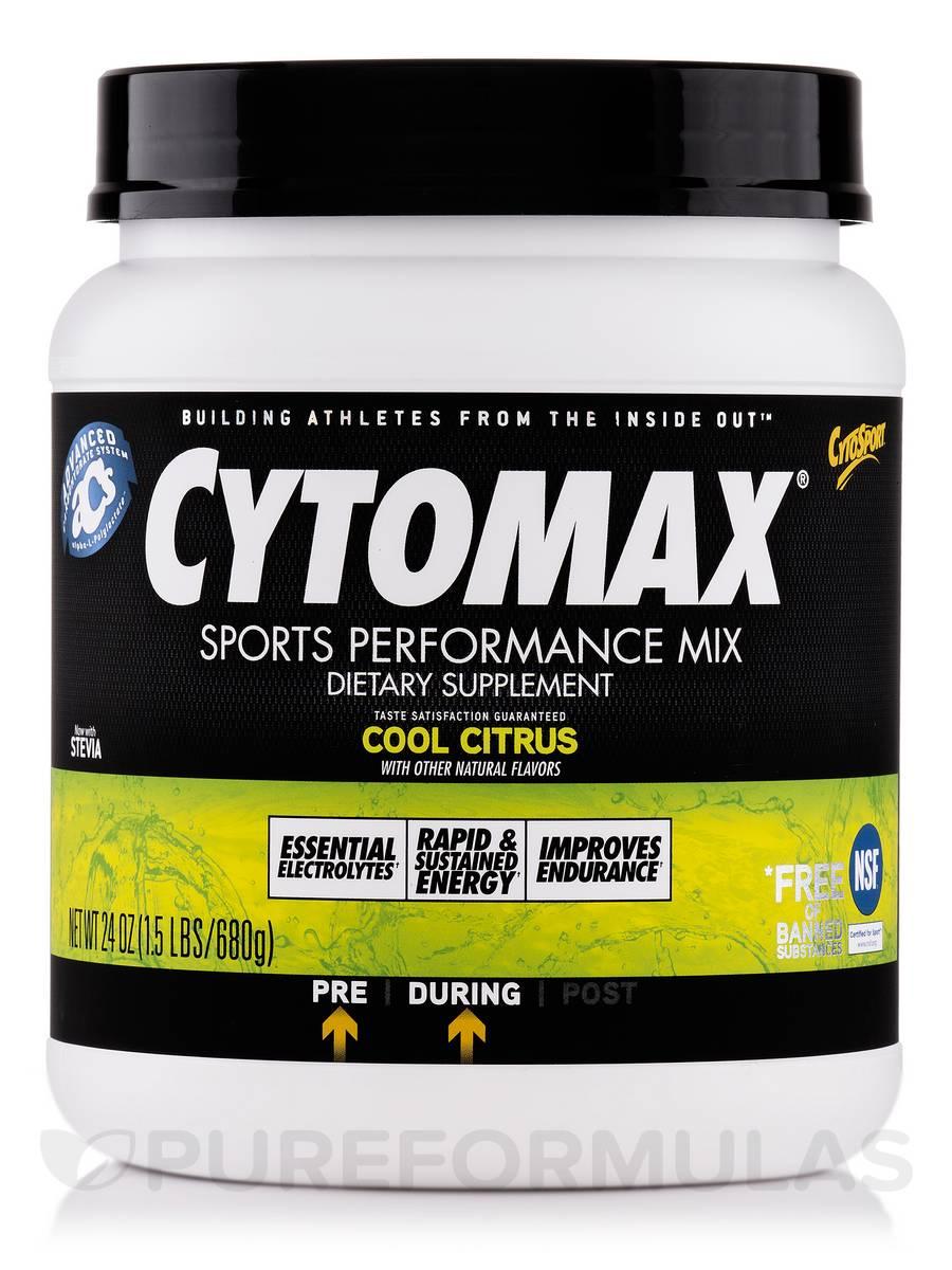 Cytomax® Sports Performance Mix Cool Citrus - 24 oz (1.5 lb / 680 Grams)