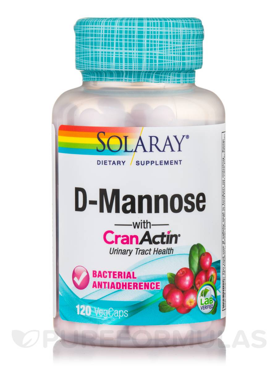 D-Mannose with CranActin® Cranberry Extract 1000 mg - 120 VegCaps