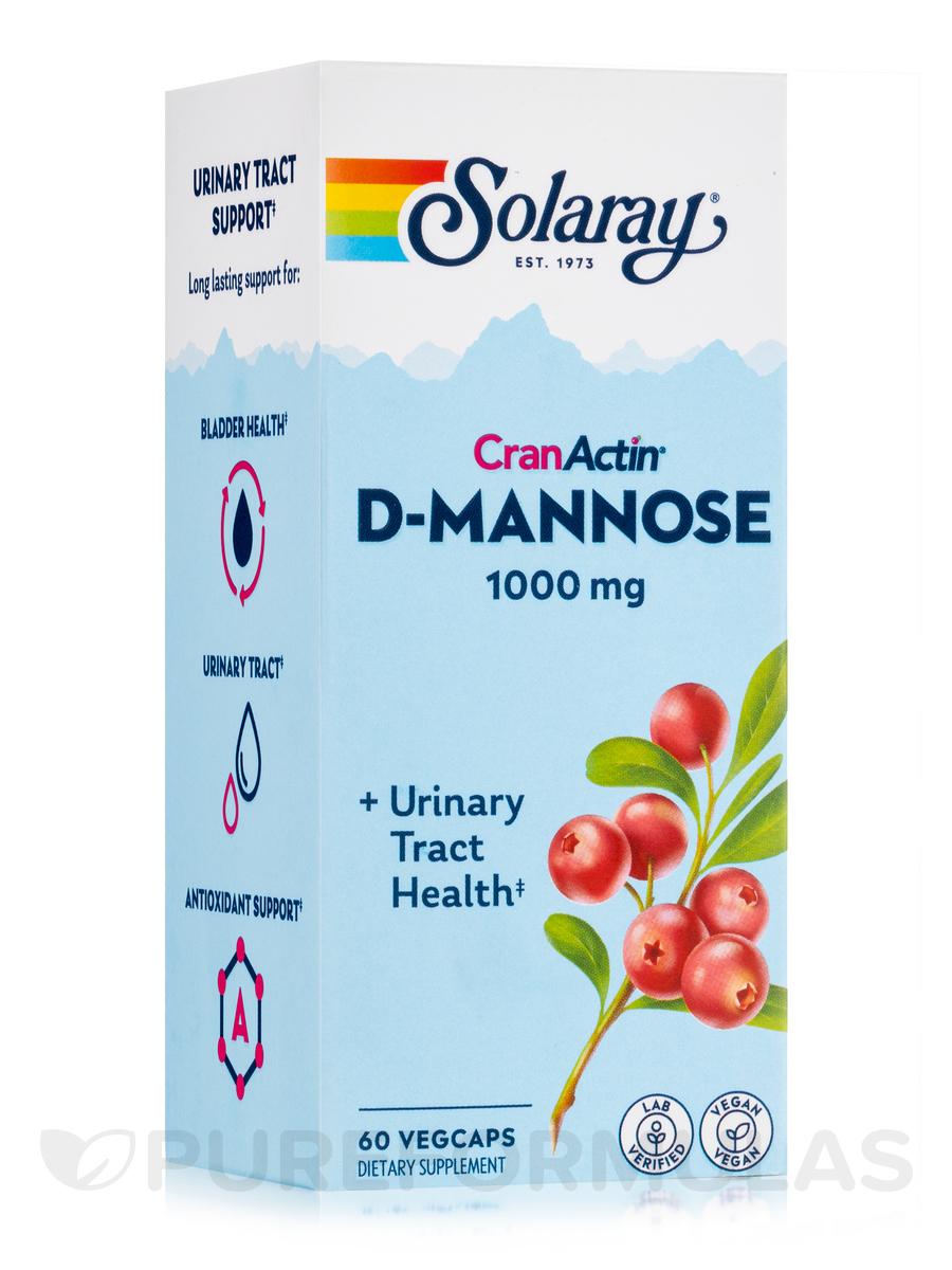 D-Mannose with CranActin® Cranberry Extract 1000 mg - 60 VegCaps