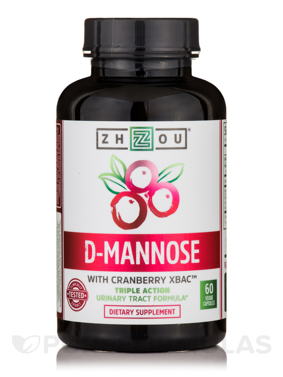D-Mannose with Cranberry XBAC™ - 60 Veggie Capsules