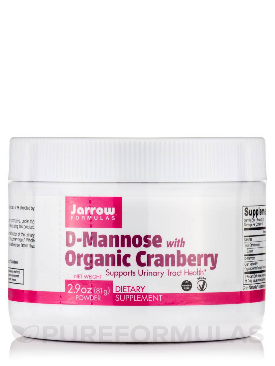 D-Mannose with Organic Cranberry - 2.9 oz (81 Grams)