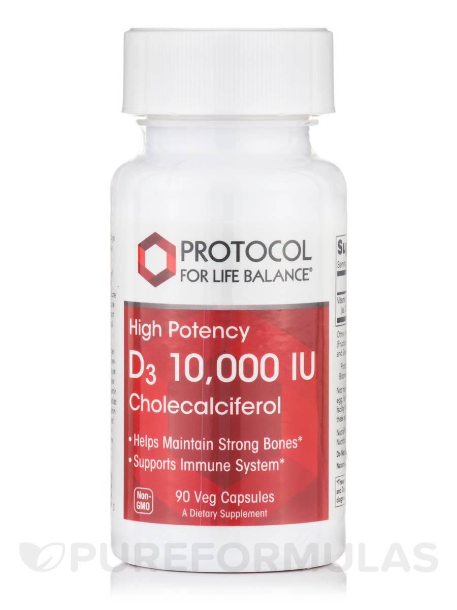 D3 10,000 IU Cholecalciferol - 90 Vegetarian Capsules