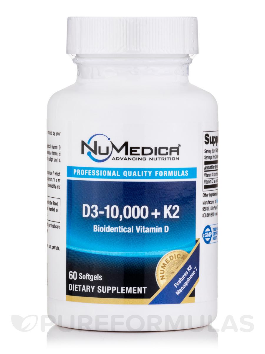 D3-10,000 + K2 - 60 Softgels