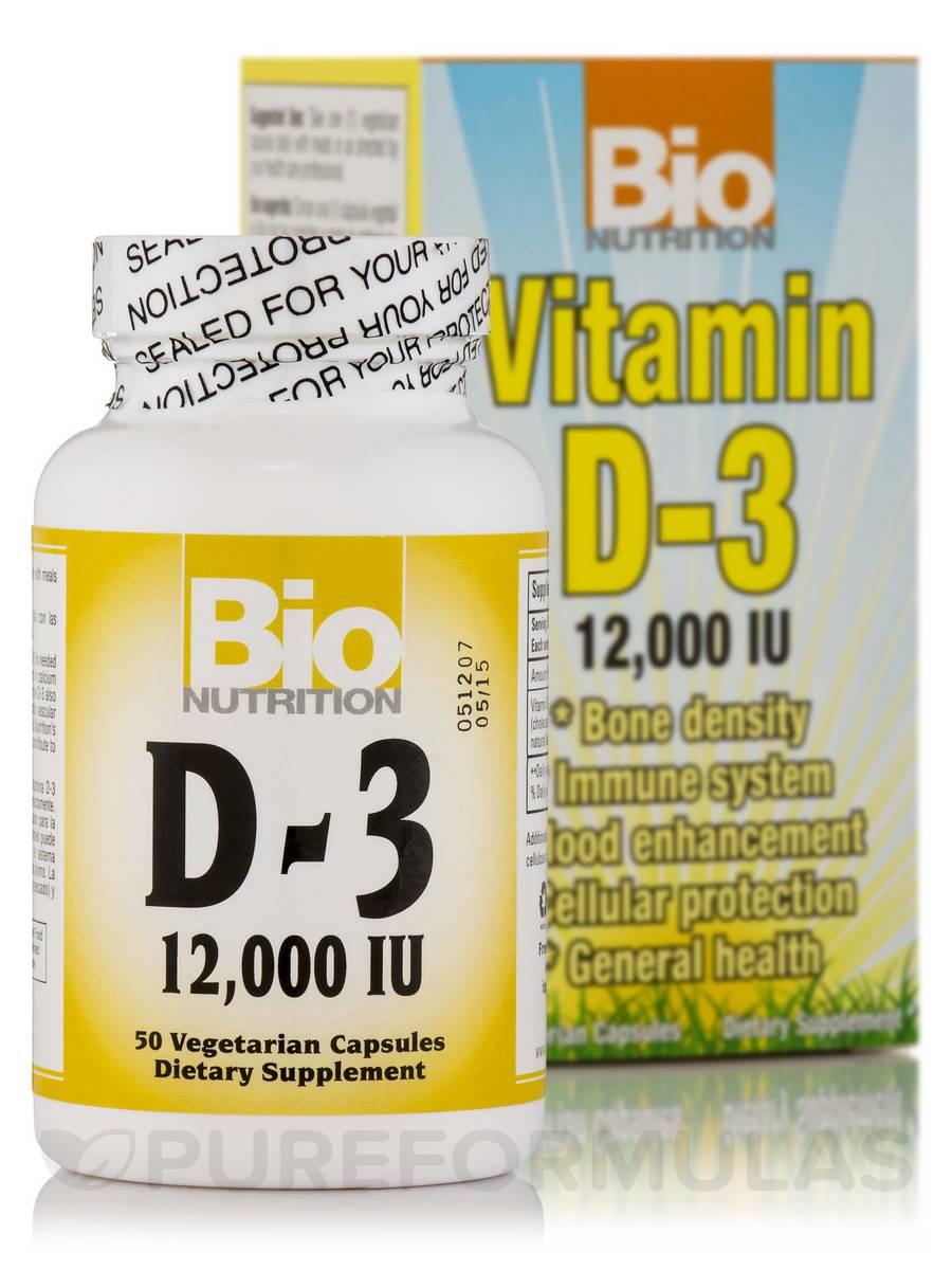 Vitamin D-3 12,000 IU - 50 Vegetarian Capsules