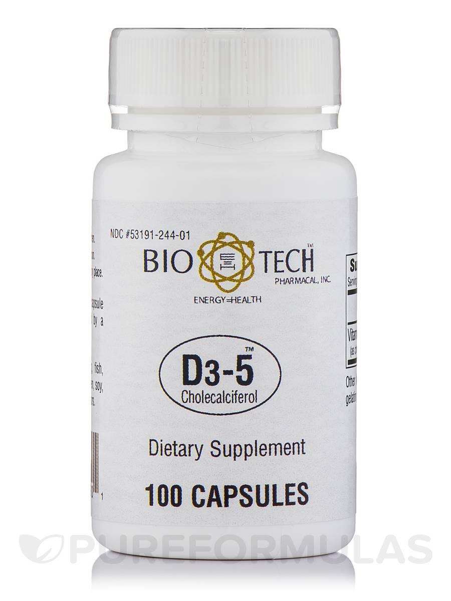 D3-5 Cholecalciferol - 100 Capsules