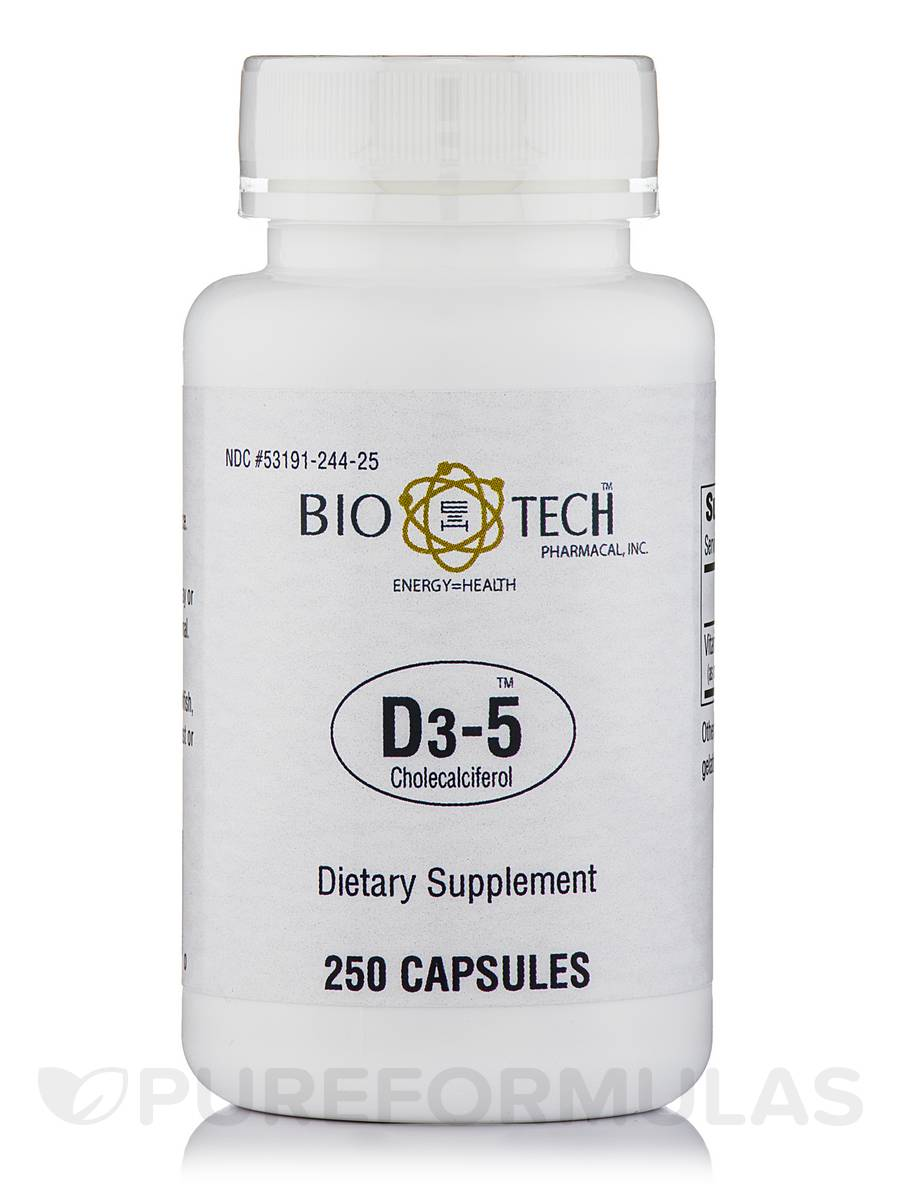 D3-5 Cholecalciferol - 250 Capsules