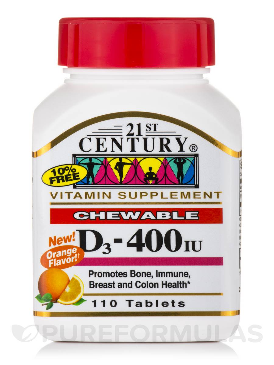 D3-400 IU (Orange) - 110 Chewable Tablets