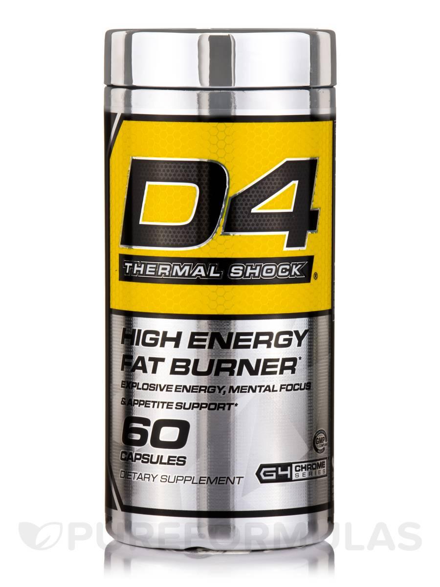 D4 Thermal Shock, High Energy Fat Burner - 60 Capsules