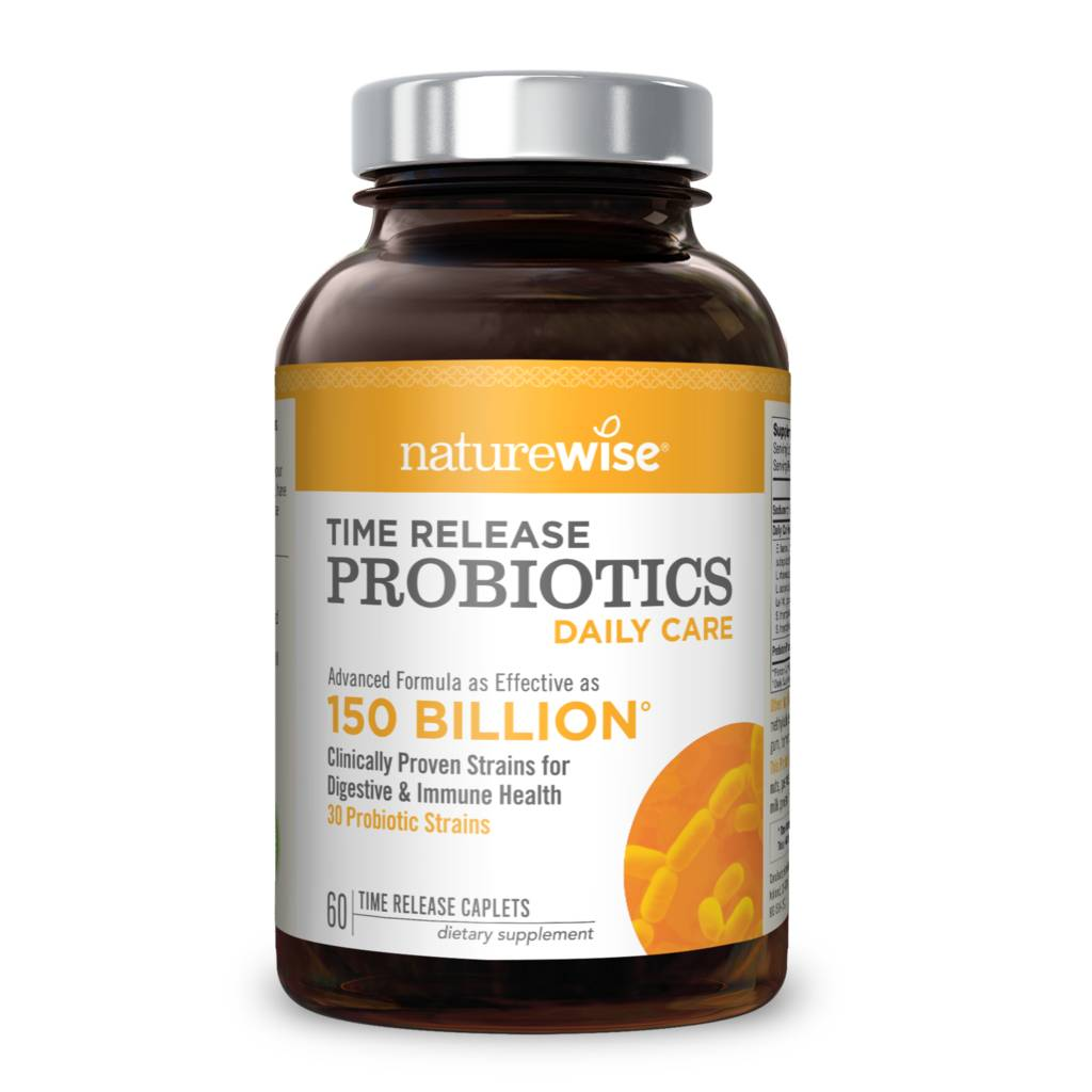 Daily Care Time-Release Probiotics, 10 Billion CFU - 60 Time-Release Caplets