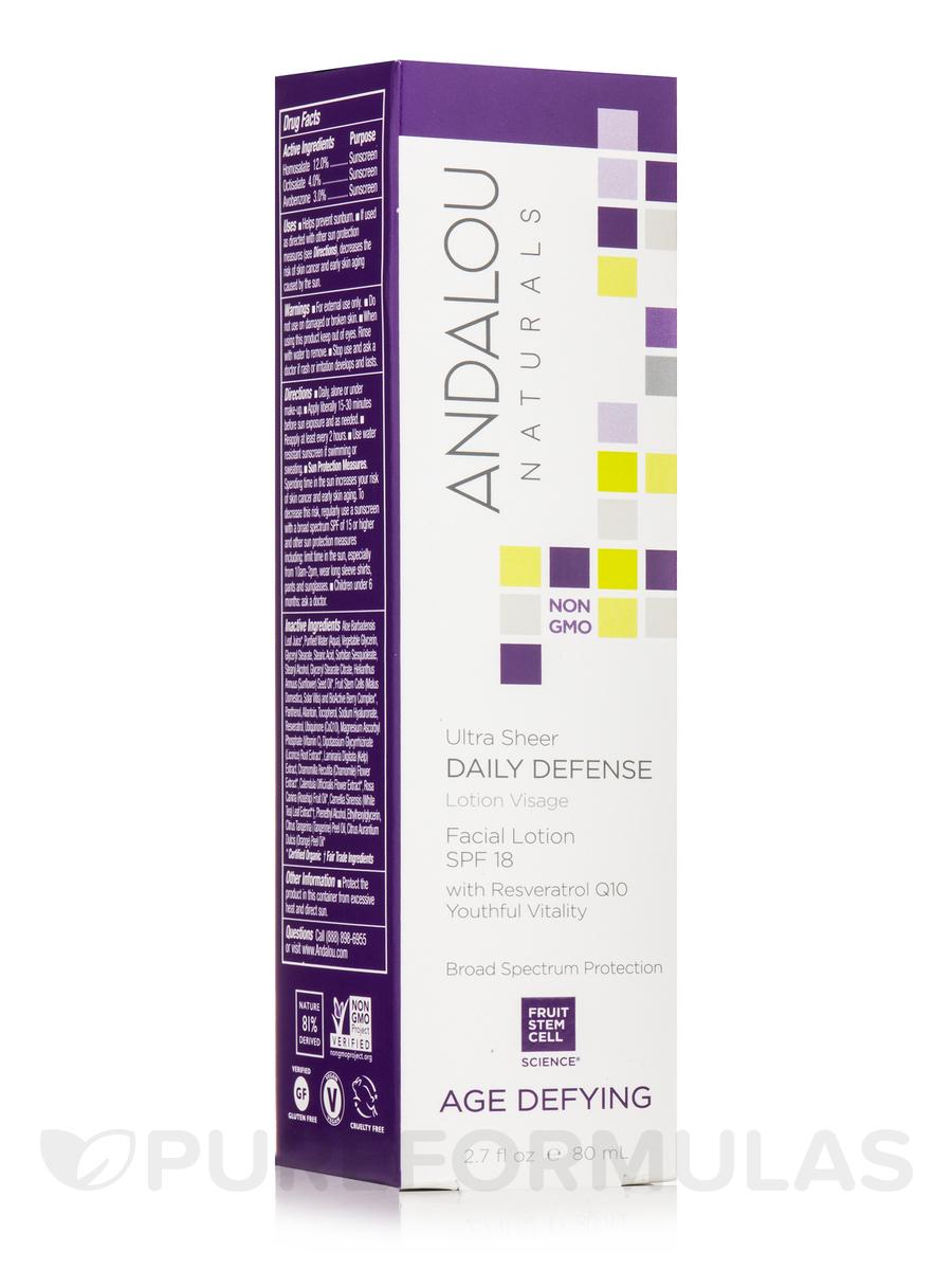 Ultra Sheer Daily Defense Facial Lotion SPF 18 - 2.7 fl. oz (80 ml)