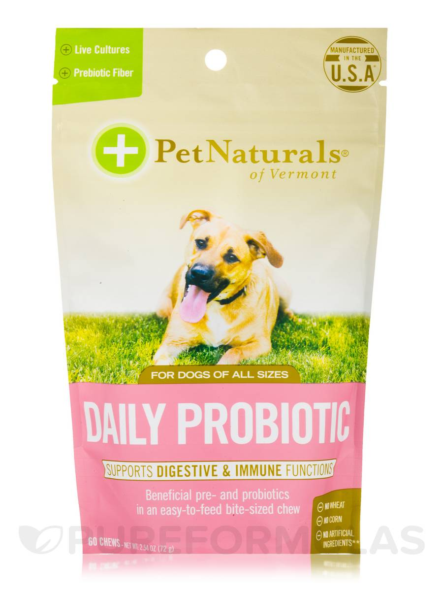 Daily Probiotic for Dogs (All Sizes) - 60 Chews