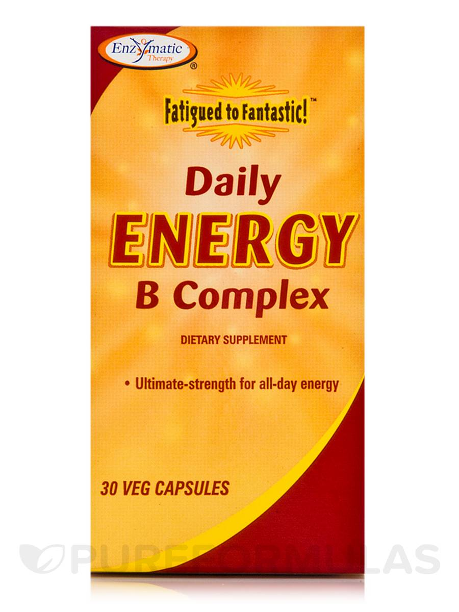 Fatigued to Fantastic! Daily Energy B Complex - 30 Vegetarian Capsules