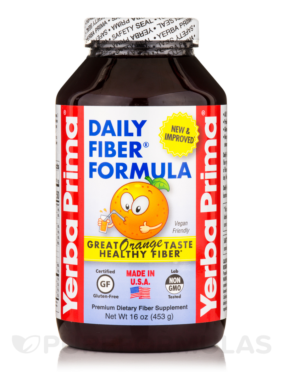 Daily Fiber Formula (Orange Flavor) Powder - 16 oz (454 Grams)
