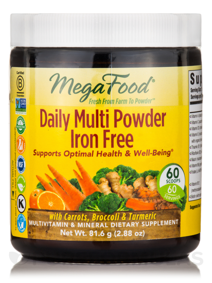 Daily Multi Powder Iron Free - 2.88 oz (81.6 Grams)