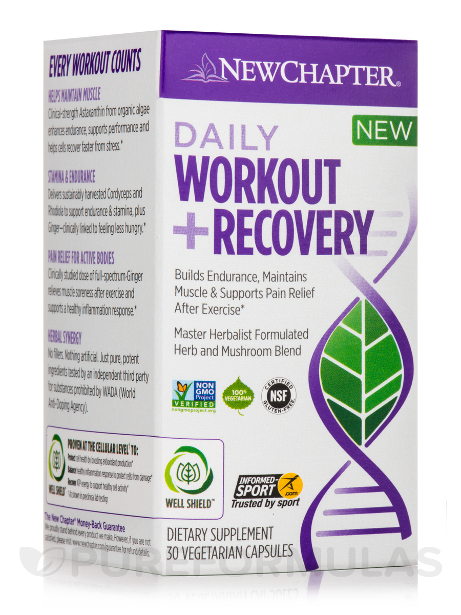 Daily Workout + Recovery - 30 Vegetarian Capsules