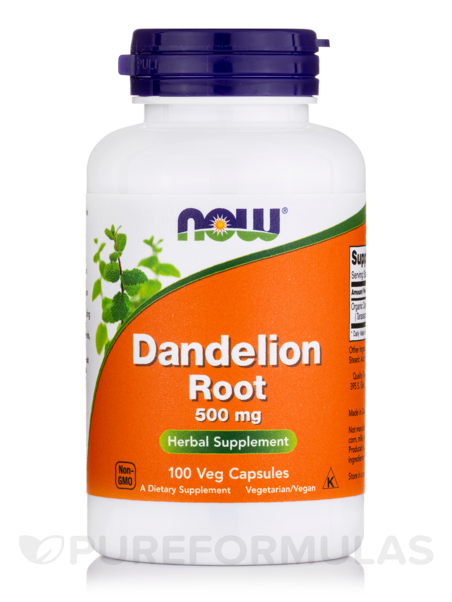 Dandelion Root 500 mg - 100 Capsules