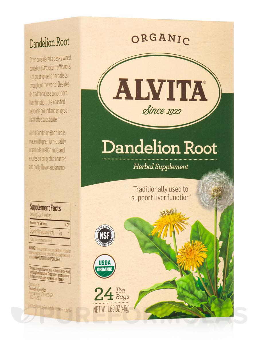 Dandelion Root Herbal Supplement - 24 Tea Bags