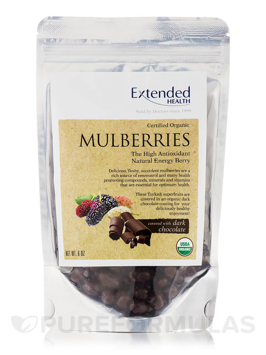 Mulberries Dark Chocolate - 6 oz
