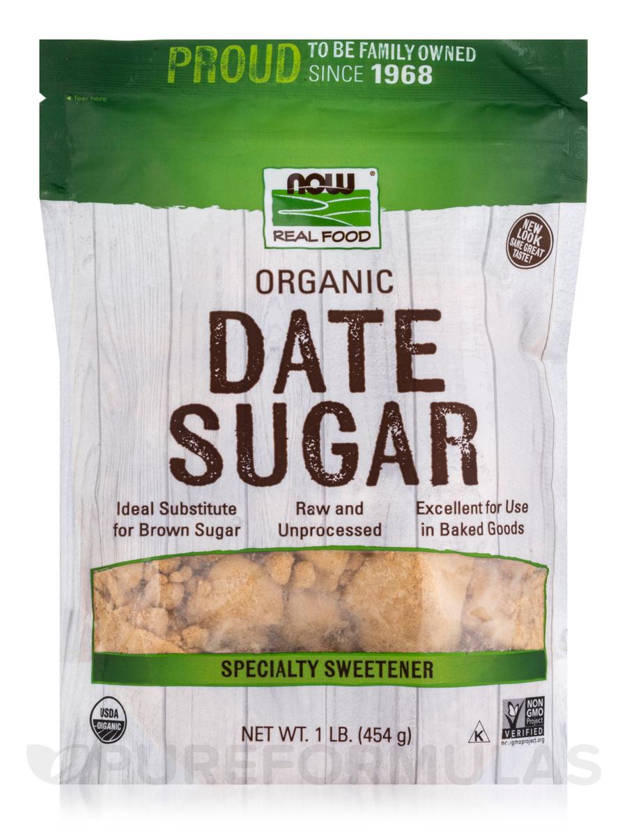NOW® Real Food - Date Sugar - 1 lb (454 Grams)