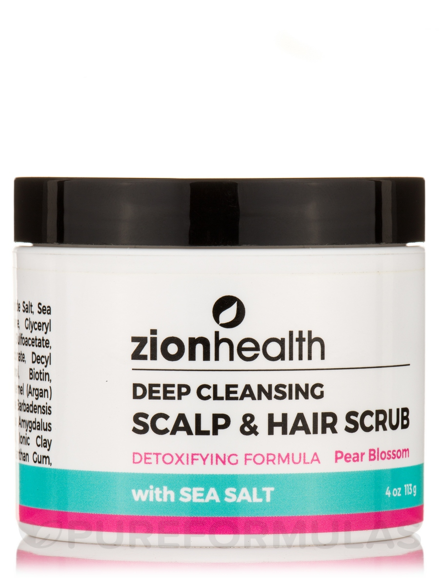 Deep Cleansing Scalp & Hair Scrub, Pear Blossom - 4 oz (113 Grams)
