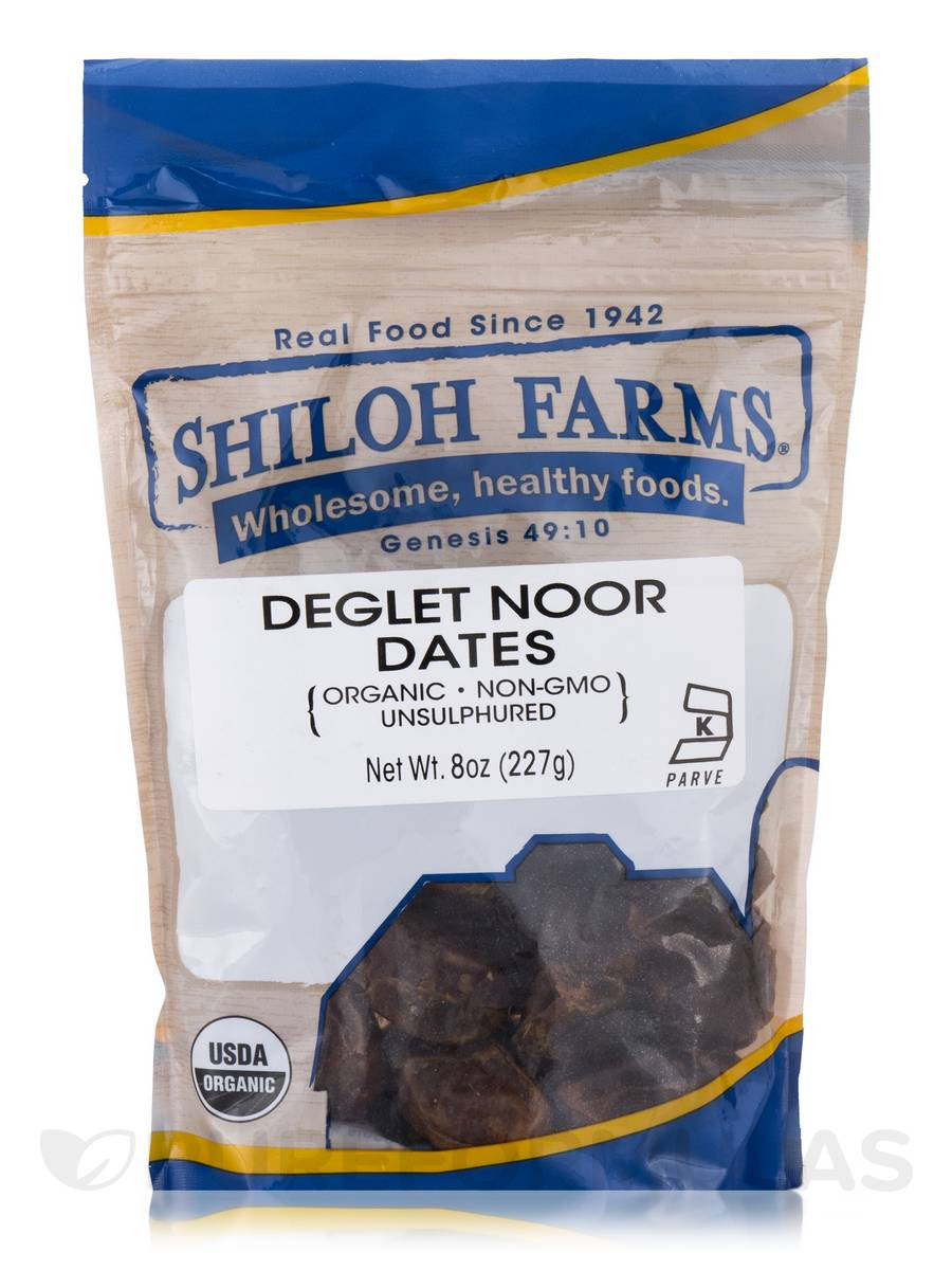 Deglet Noor Dates, Organic - 8 oz (227 Grams)