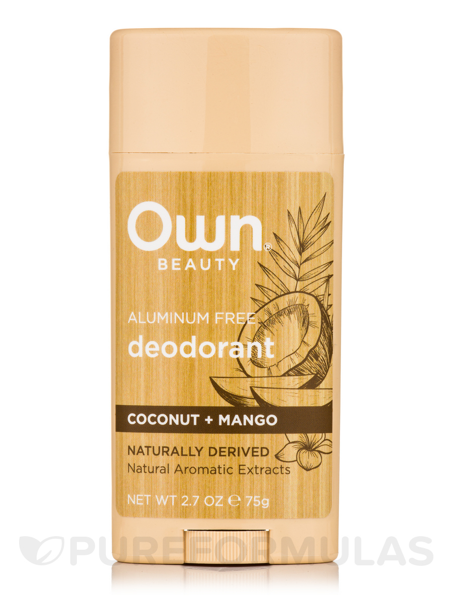 Deodorant, Coconut + Mango - 2.7 oz (75 Grams)