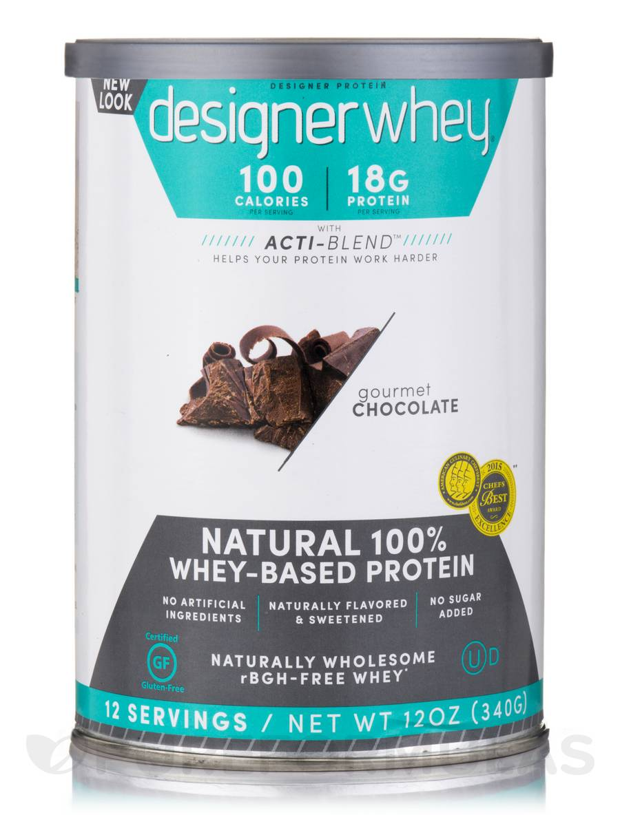 Designer Whey Protein Powder Gourmet Chocolate - 12 oz (340 Grams)