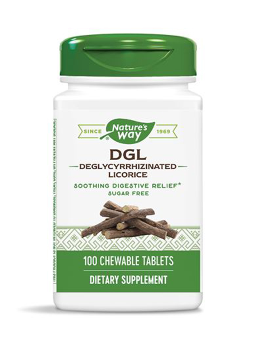 DGL Fructose Free Formula - 100 Chewable Tablets