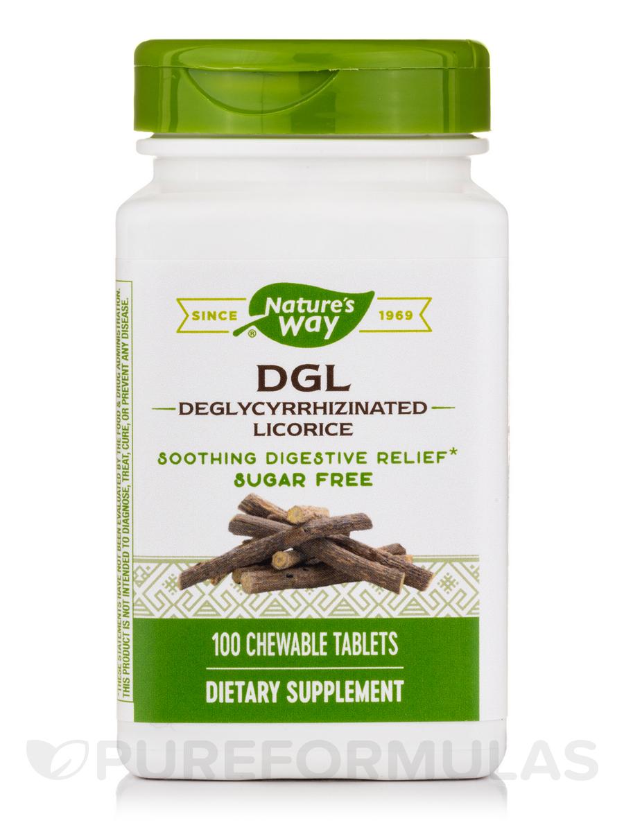 DGL Fructose Free/Sugarless Formula - 100 Chewable Tablets