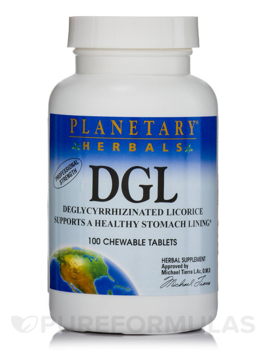 DGL (Deglycyrrhizinated Licorice) - 100 Chewable Tablets
