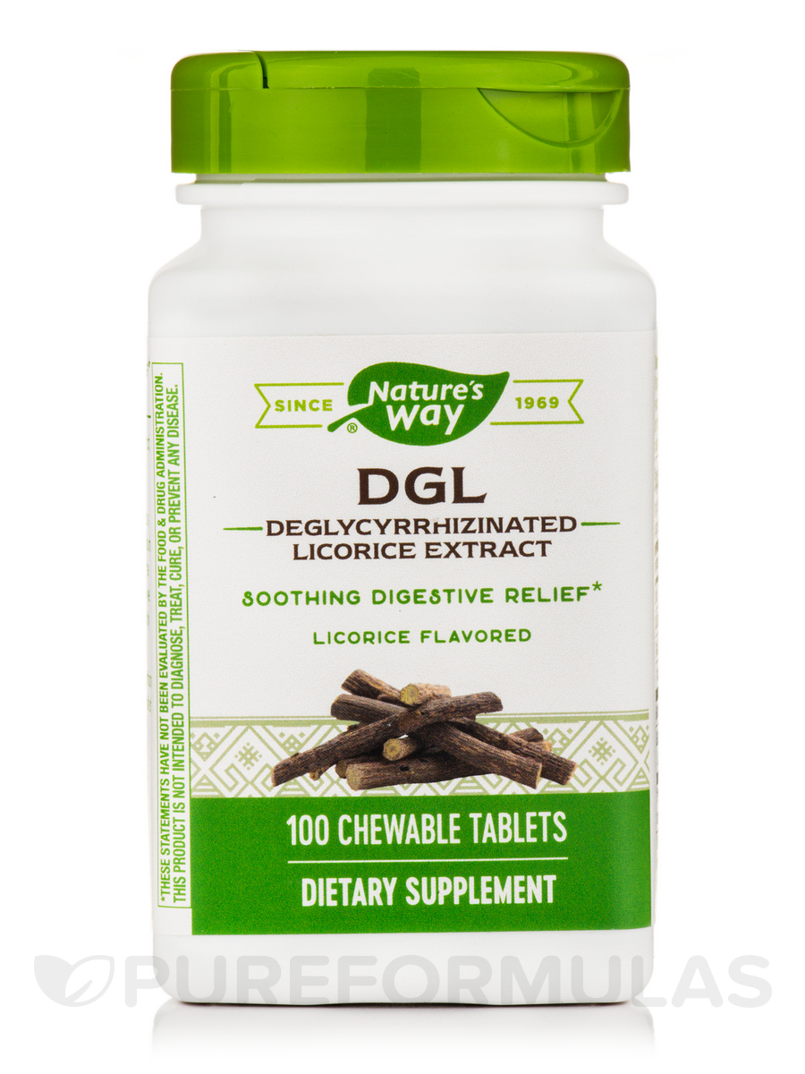 DGL, Licorice Flavored - 100 Chewable Tablets